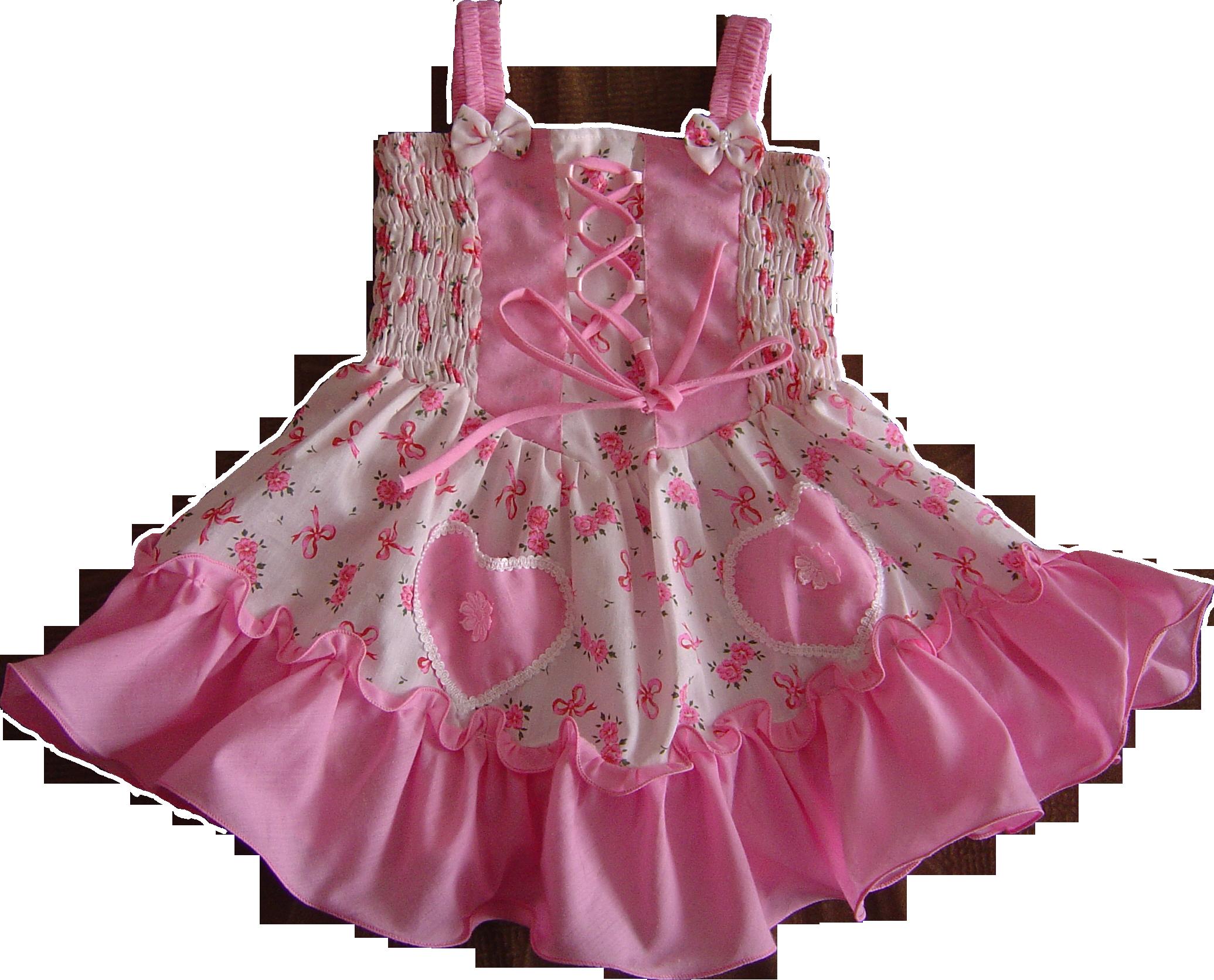 Платье детское на прозрачном фоне