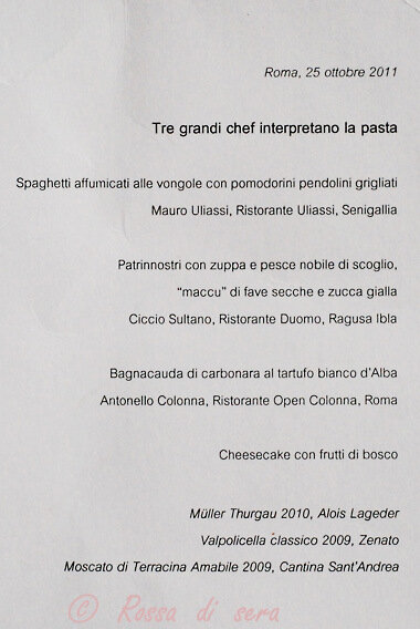 Pasta Day all'Open Colonna 25.10.11