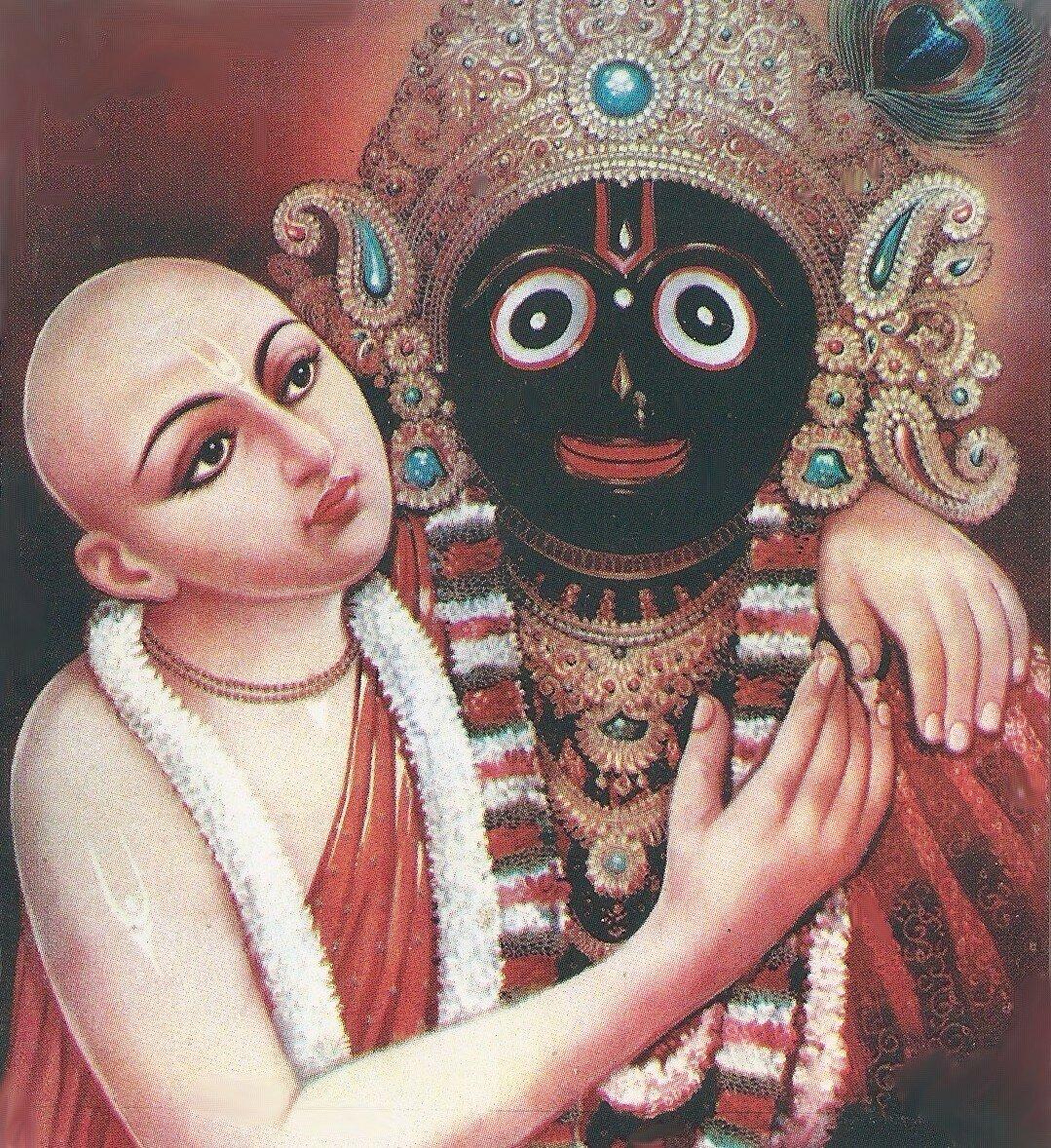 Шри Кришна-Чайтанья и Божество - Господь Джаганнатха