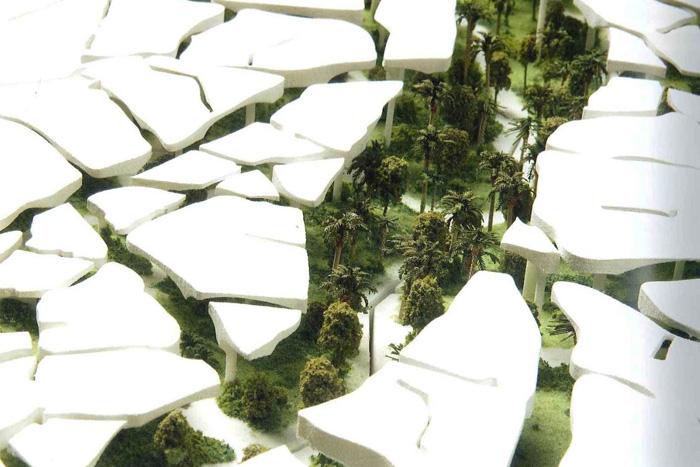 Проект Al Fayah Park в Абу-Даби. Дизайнер Томас Хезервик и Heatherwick Studio