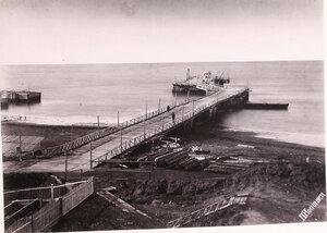 Вид морской пристани  (в районе поста Дуэ).