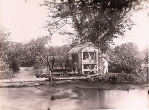 Вид на мельницу поселенца-домохозяина [среднего достатка].