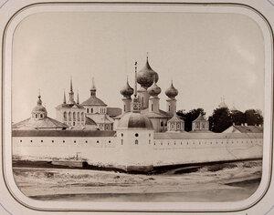 Вид на Успенский (Богородицкий,Большой)Тихвинский мужской монастырь(вид со стороны больницы ведомства путей сообщения).