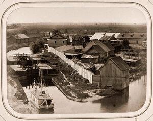 Вид с горы на Новгородский шлюз.