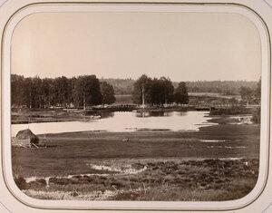 Вид на Орловскую плотину и шлюз.