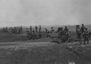 Учебная стрельба юнкеров-артиллерийского училища.