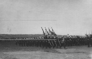 Парад в день полкового праздника измайловцев.