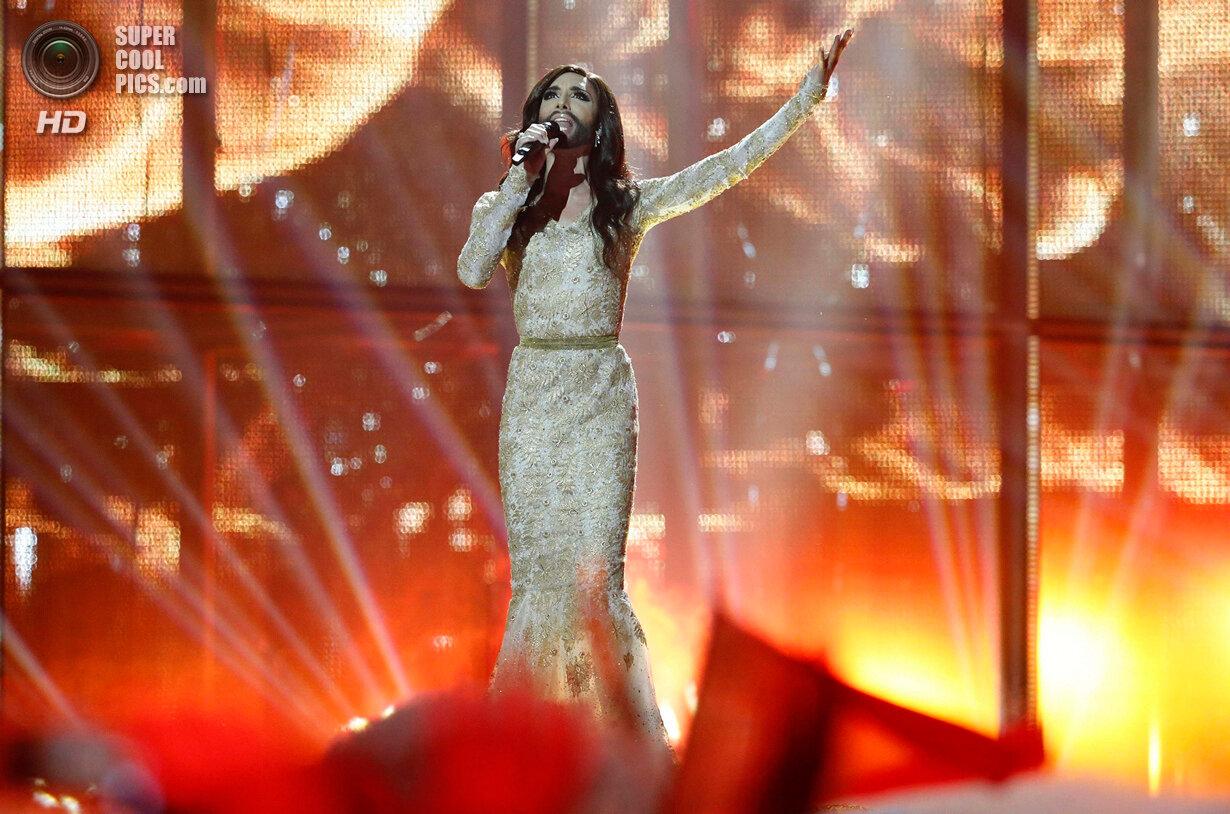 Conchita Wurst representing Austria performs the song