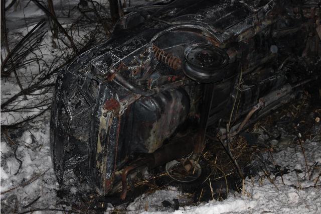 ВЯлуторовском районе вавтомобиле сгорел 17-летний парень