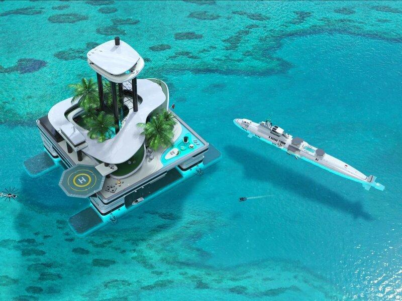 Пентхаус на высоте около 80 метров над уровнем моря с двумя лифтами, джакузи, частным пляжным клубом и потрясающим видом на океан.