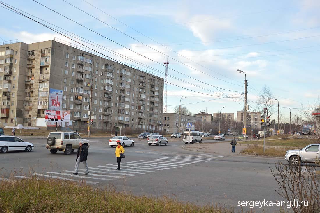 перекресток улицы Коминтерна и Ангарского проспекта