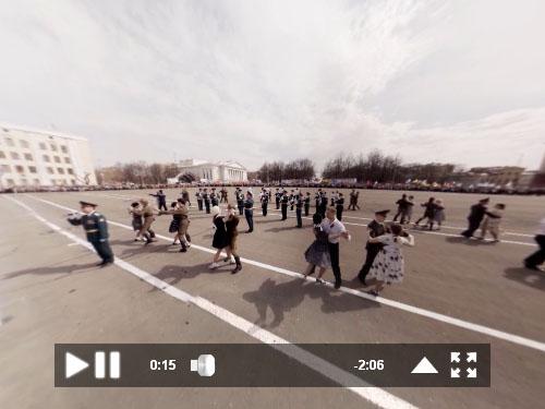 Видео панорама. Парад победы 2014. Киров.