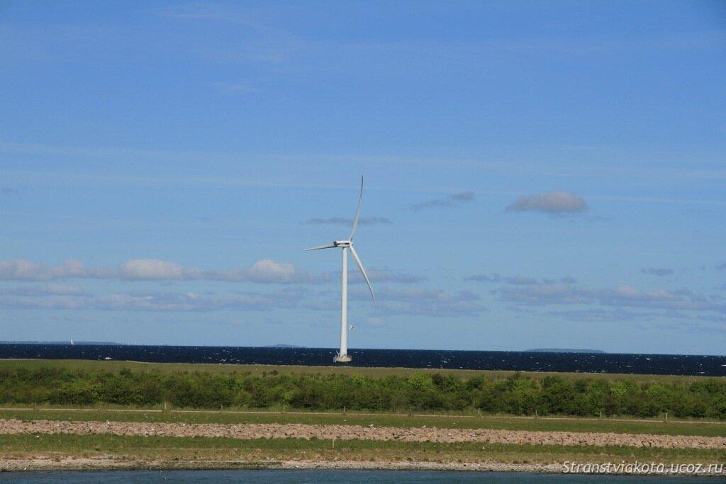 Дания, мост через Большой Бельт