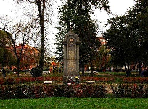 Памятный знак на месте Церкви во имя Покрова Пресвятой Богородицы
