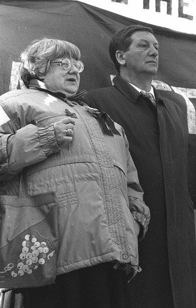 Валерия Новодворская и Константин Боровой.Фото: В. Богданов.