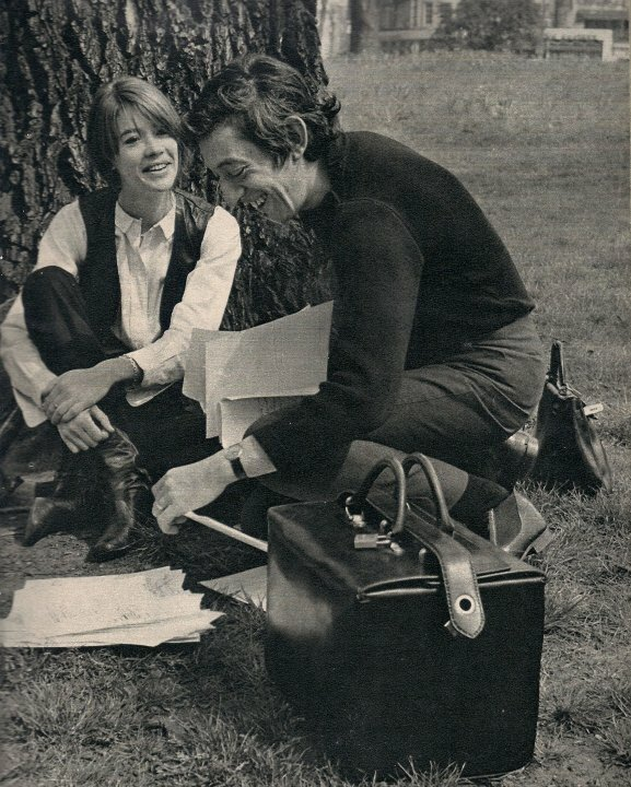 Françoise Hardy and Serge Gainsbourg