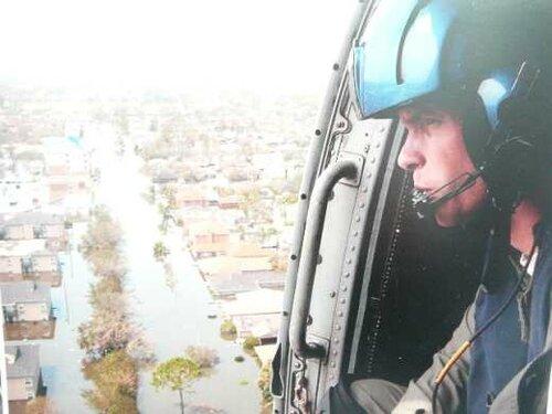 Новый Орлеан - вид с вертолёта. США 16.09.2005 года.