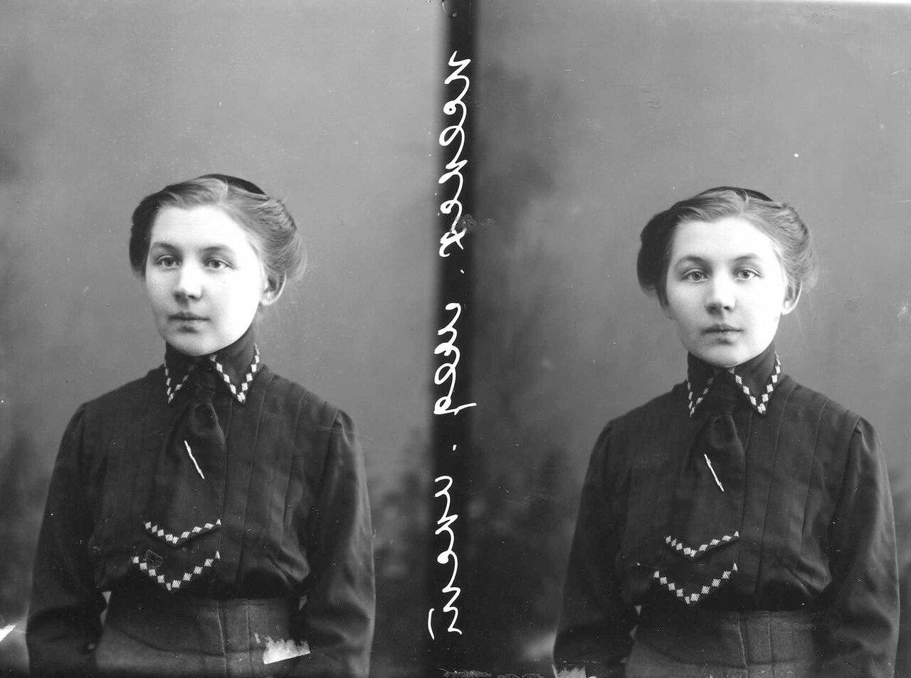 Увицкая - студентка женского медицинского института