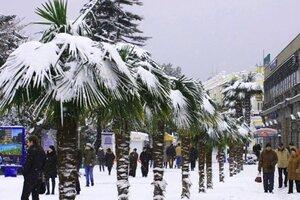 Крым Ялта снегопад под Новый год