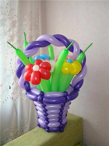 Подарок из шаров на день рождения фото