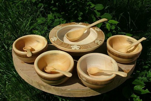 посуда деревянная фото