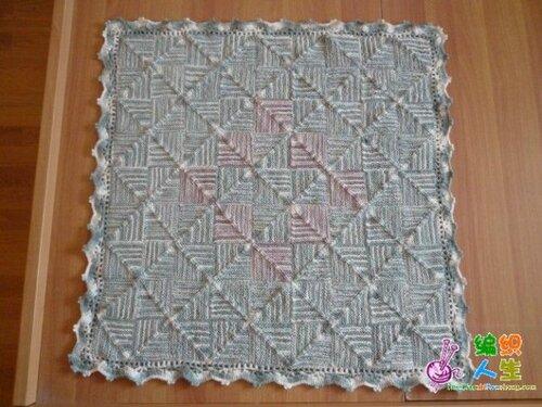 Еще один из способов вязания ковров и шалей