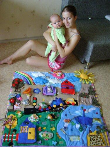Елена Озорина и ее игровой развивающий коврик для доченьки Доночки!