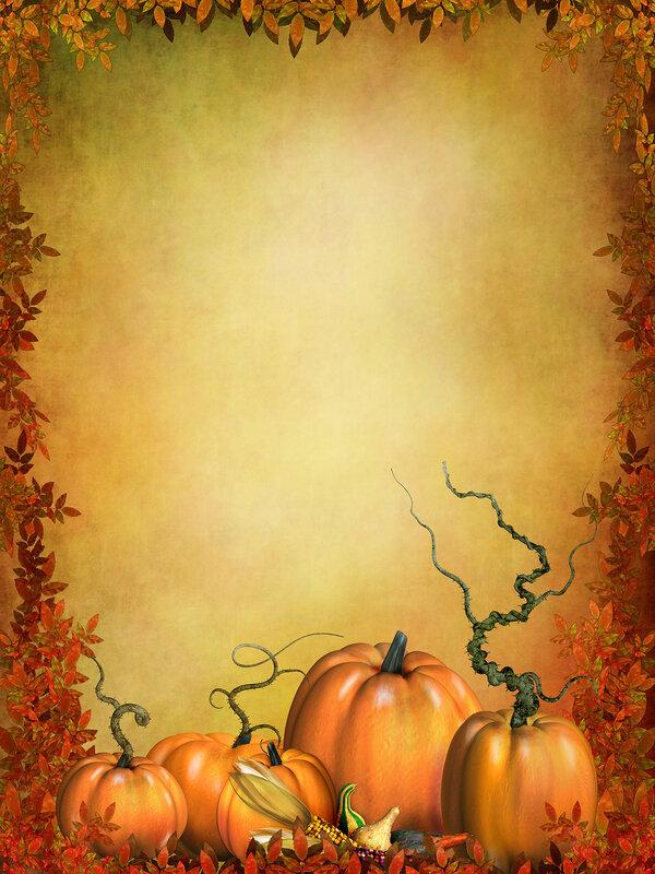 Красивые осенние фоны - Время собирать урожай, обрамленные осенними листьями, на которых можно увидеть оранжевые...