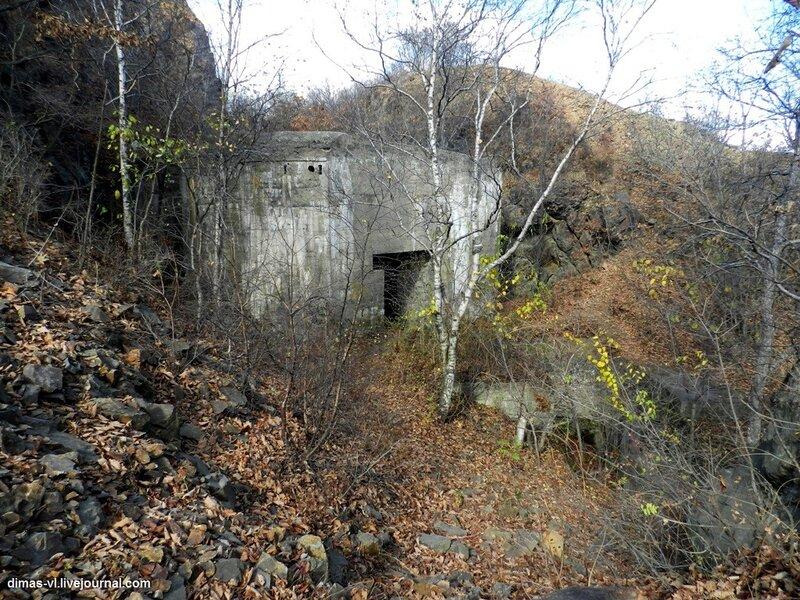 Недостроенный кофр форта №6 Владивостокской крепости. 17-октября-2011г
