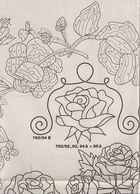 Burda Cassic - Roses Creative E 793