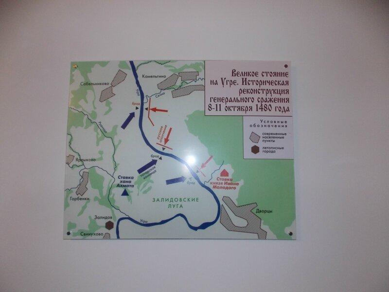 Стояние на реке Угре, карта генерального сражения 8-11 октября 1480 года