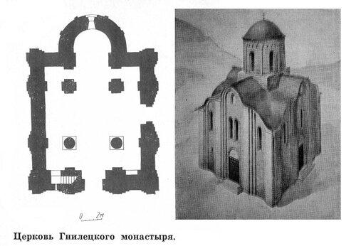 Церковь Гнилецкого монастыря, план