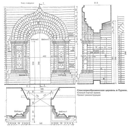 Спасопреображенская церковь Д.М. Пожарского в Пурехе, Южный портал, реконструкция