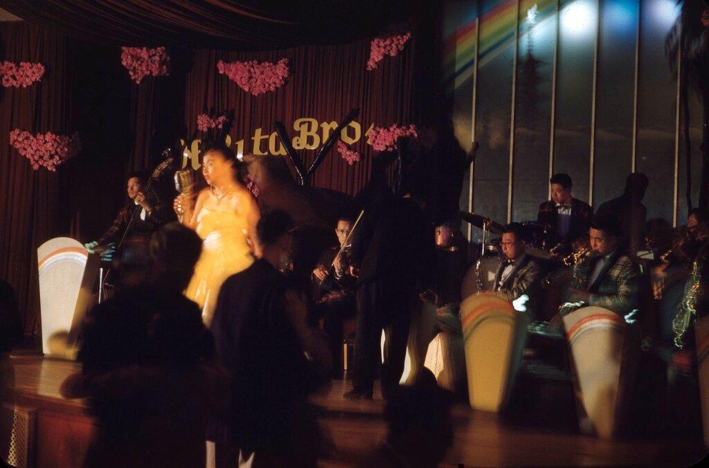 In the Queen Bee Cabaret, Japan, 1956