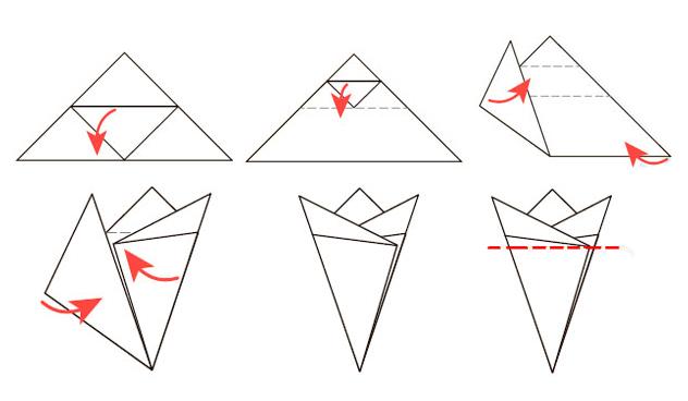 Как сделать основу для снежинки из бумаги