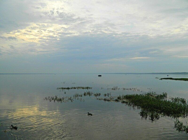 Плещеево озеро. Закат.