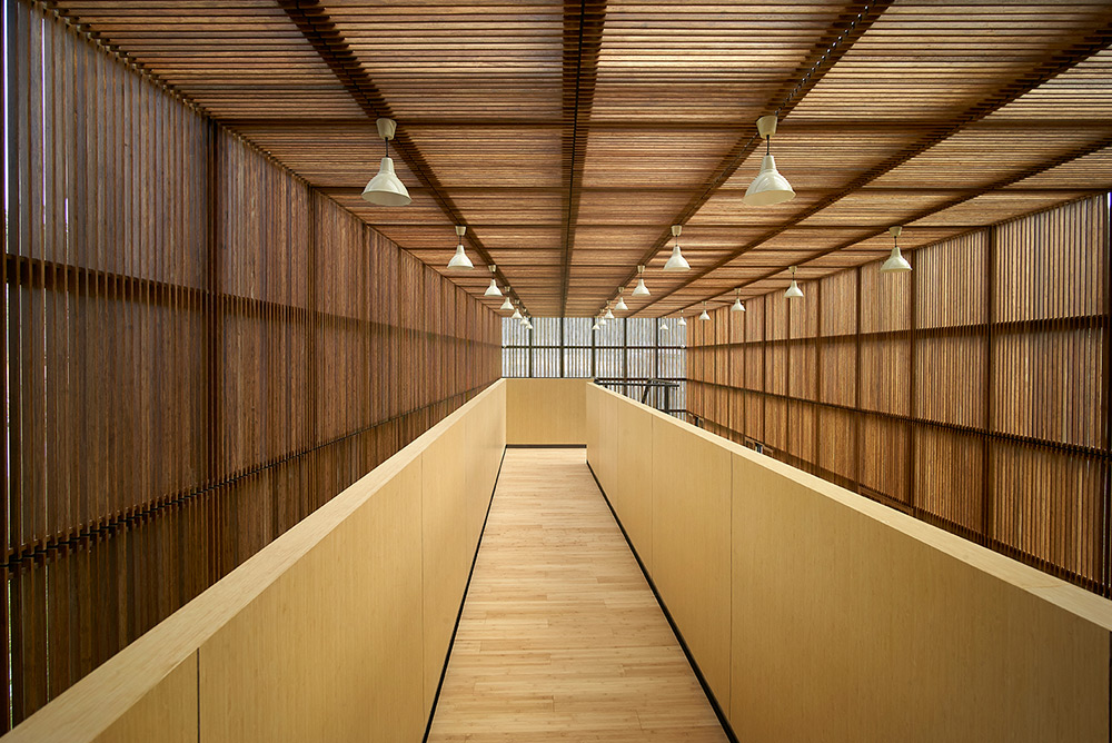 Bamboo product research and design center (interior) by Li Xiaodong.