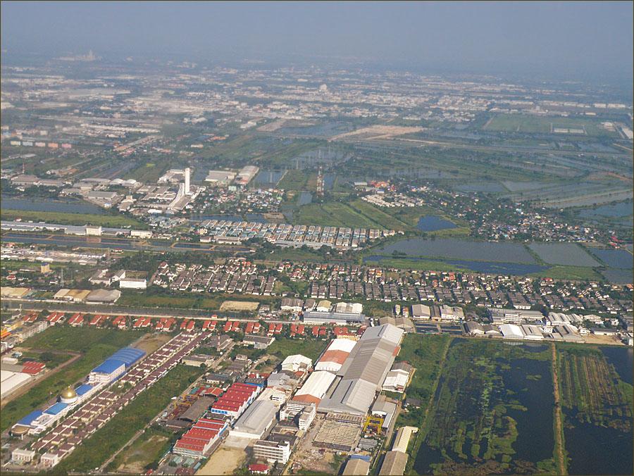 Бангкок. Вид с самолёта.