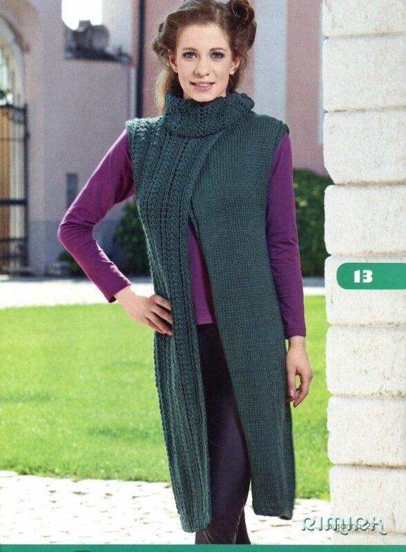 вязание на спицах накидки с ажурным воротником размер: 38 вам понадобится: 700 г оливкового цвета пряжи Mondial...