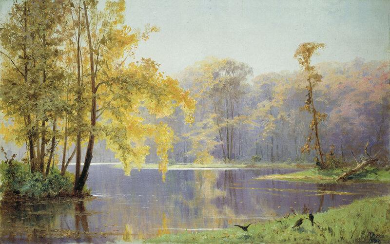 Екатерина Фёдоровна Юнге. Осенний день в саду Лефортовского дворца в Москве 1892