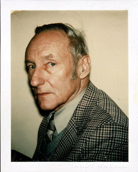 Andy Warhol Polaroids: William Burroughs, 1980.