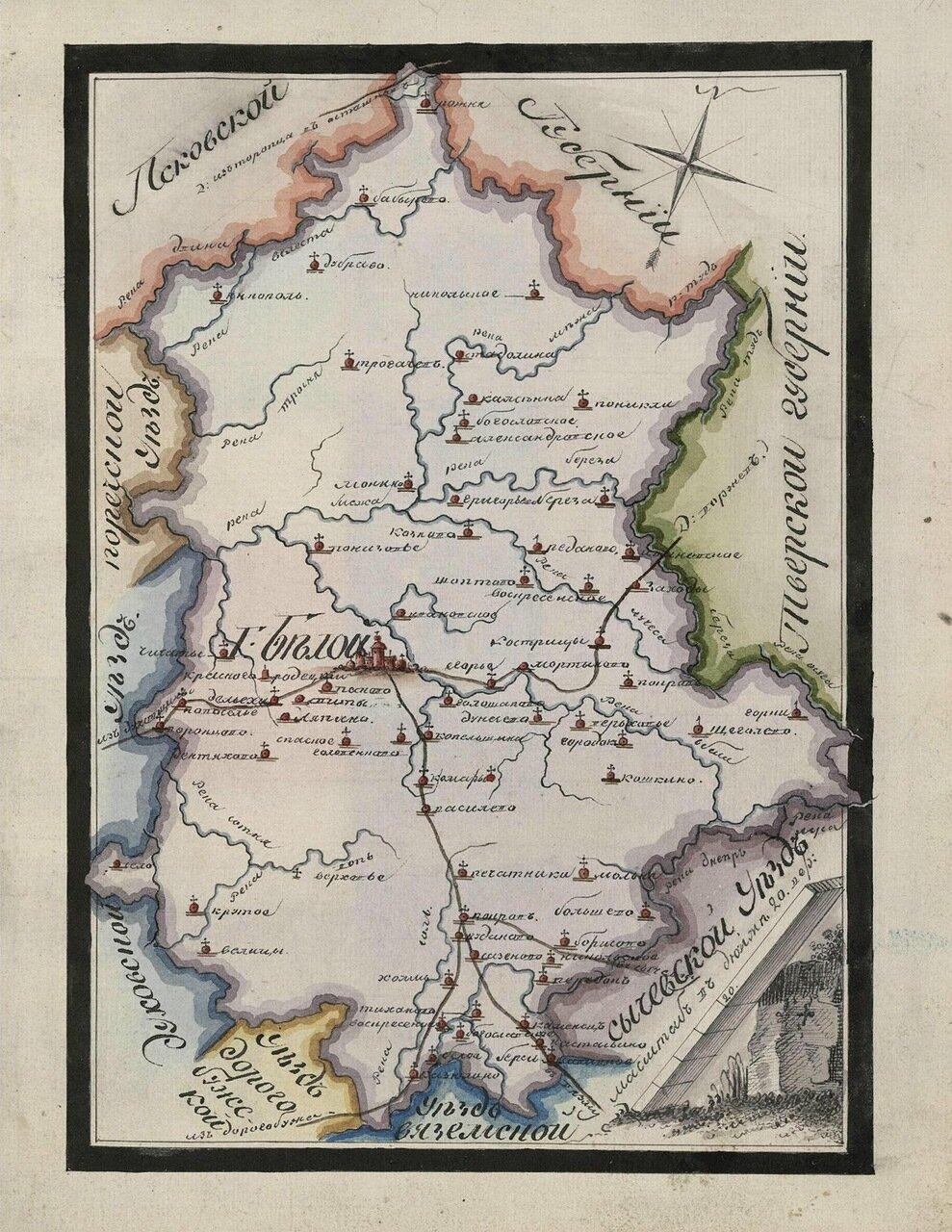 Карта Бельского уезда