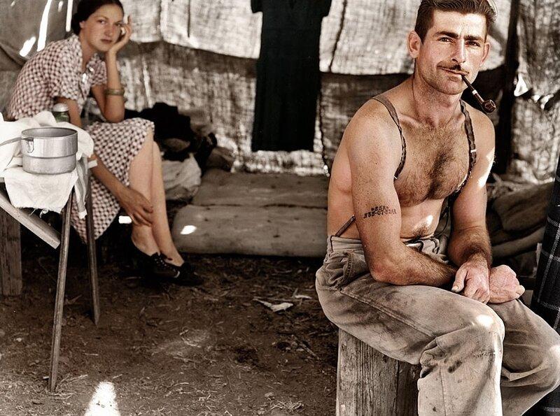 Безработный лесоруб и его жена, 1939 год © zuzahin