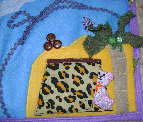 Развивающий коврик своими руками... остров, пальма, палатка