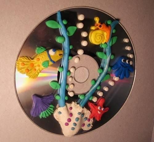 В диске с пластилином своими руками 3