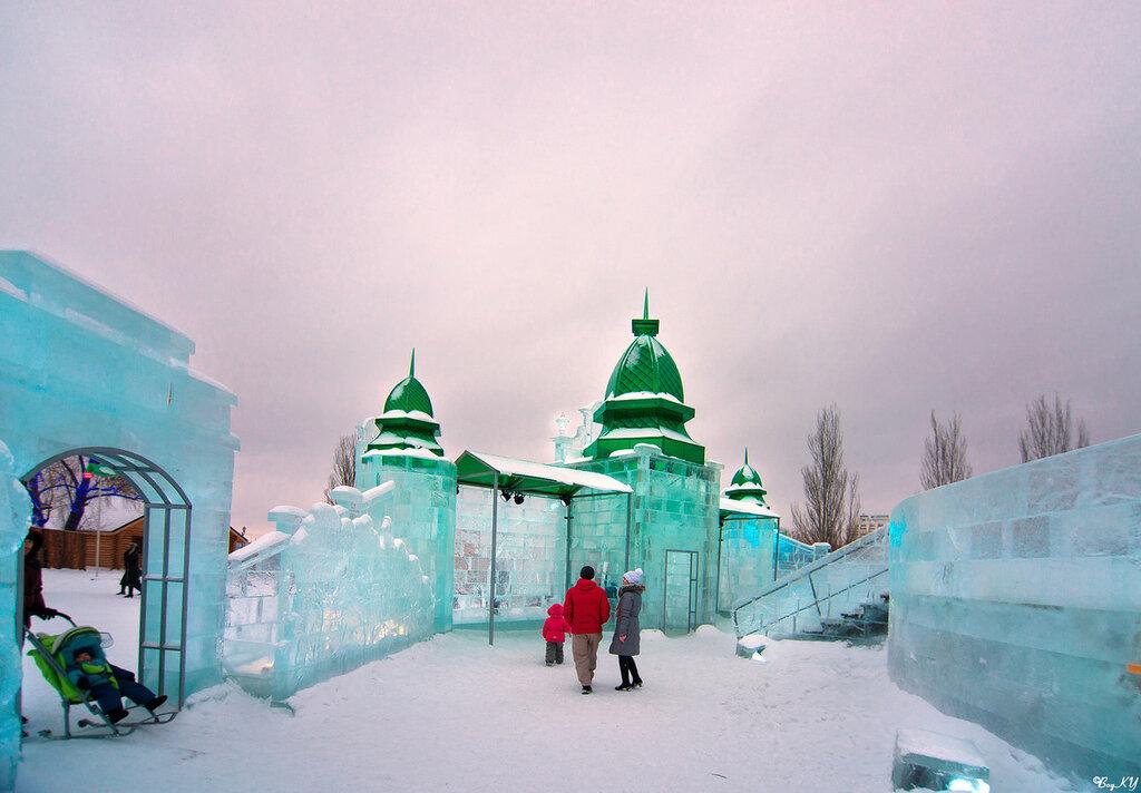 В ледяном городке Беловодье