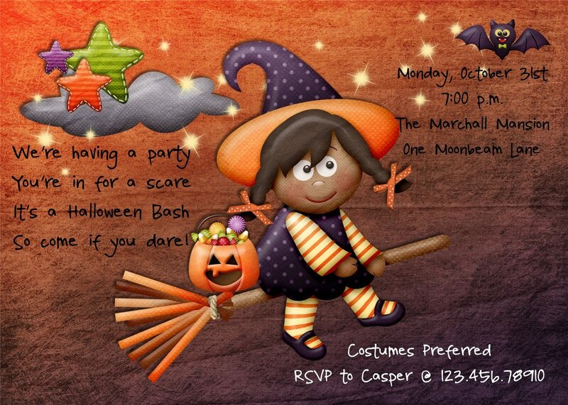 halloween party invitation witch printable custom - 2014 halloween for kids-f54445.jpg