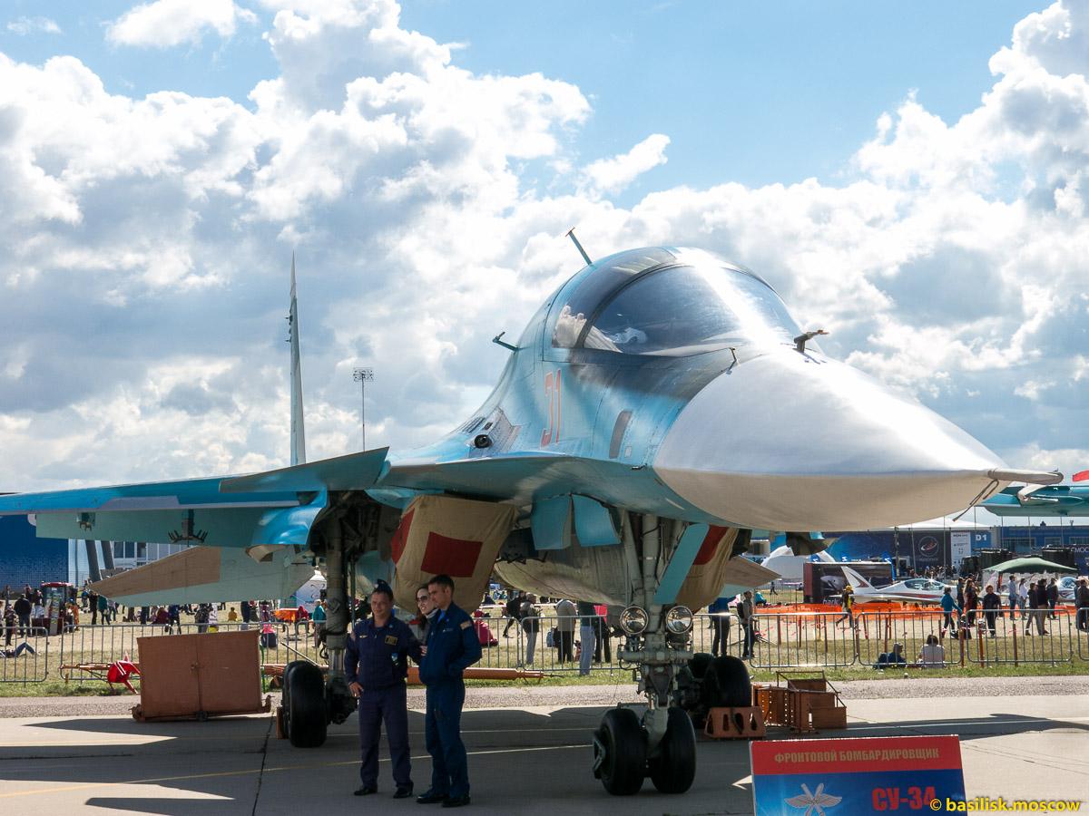 Московский авиакосмический салон МАКС-2015. Истребители. Август 2015
