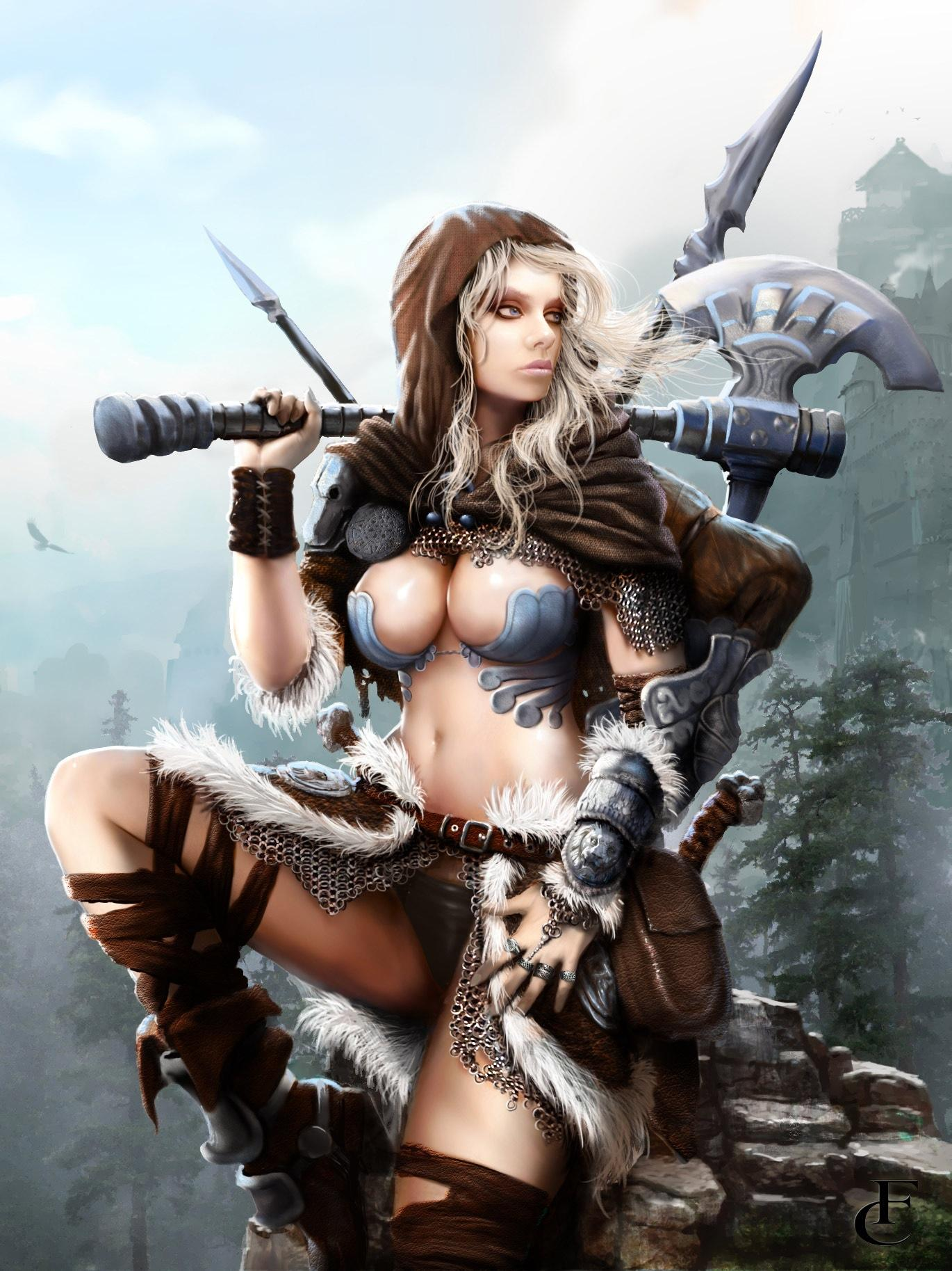 Warrior women fantasy art nackt photos