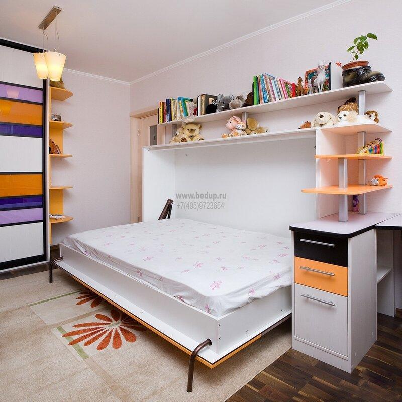 Встроенные кровати! Или дизайн однокомнатной квартиры!